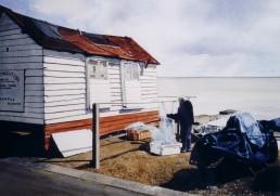 Fisherman's hut.Felixstowe seafront.
