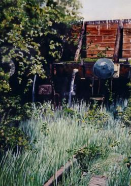 Old wagon at Felixstowe.
